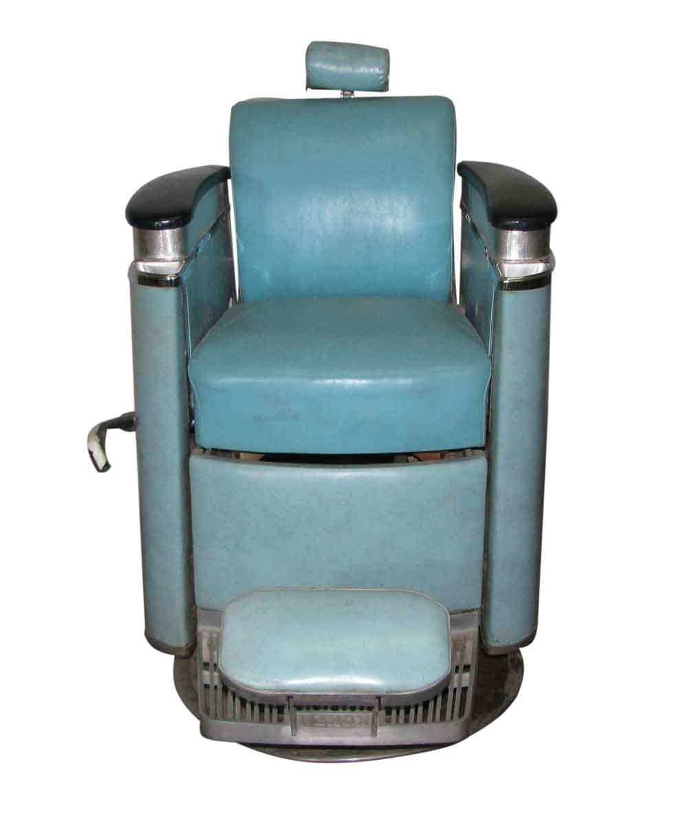 Koken Barber Chairs 1940s Blue Koken Barber Chair