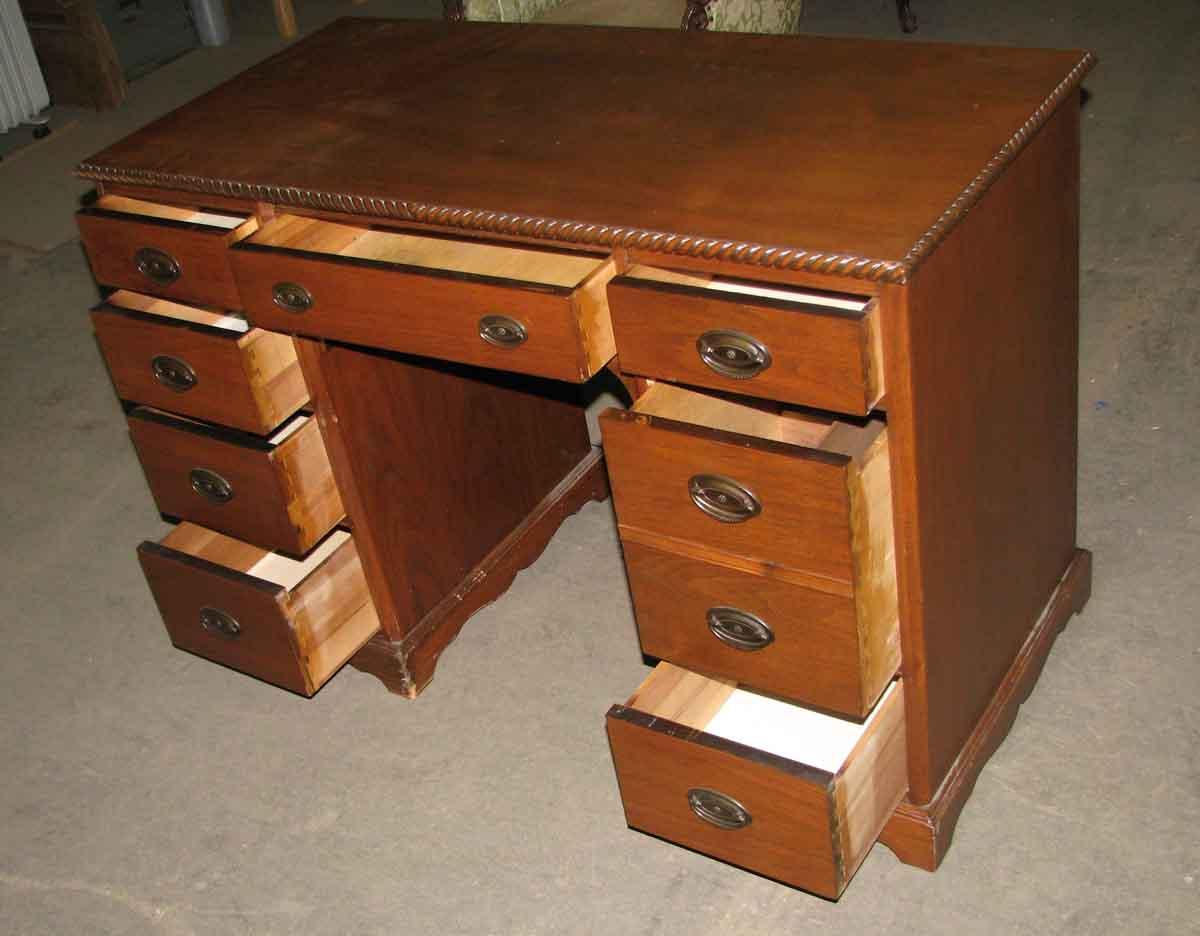 Vintage Wood Desk with Rope Detail  Olde Good Things