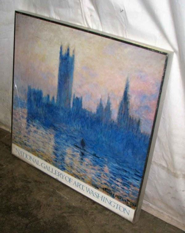 National Of Art Vintage Exhibit Monet Poster