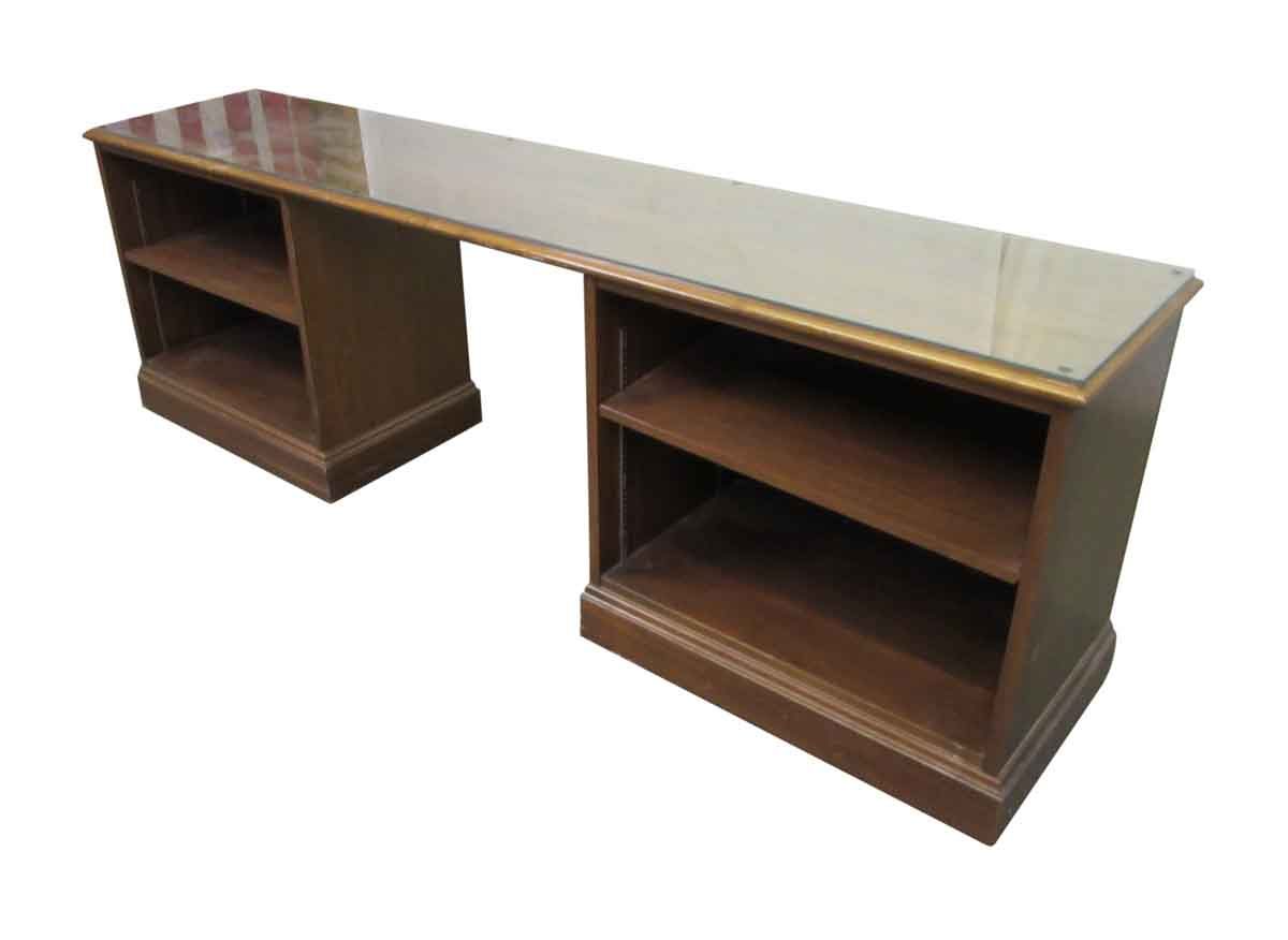Long Office Desk with Two Cubbies  Olde Good Things