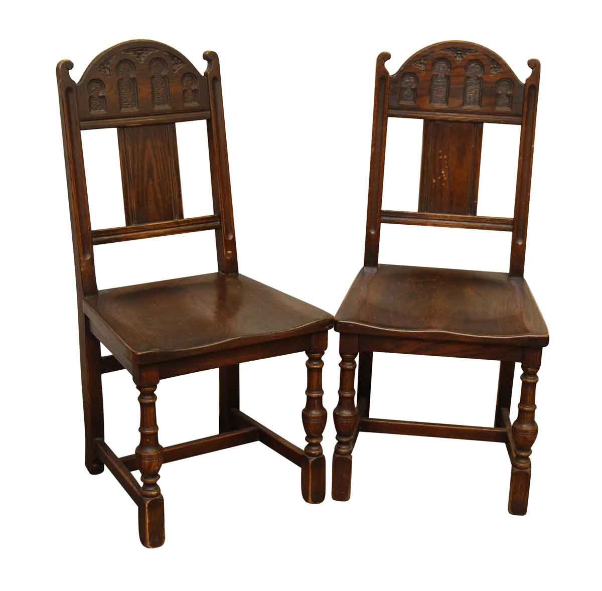 vintage wooden chairs primitive chair pads pair of gothic olde good things