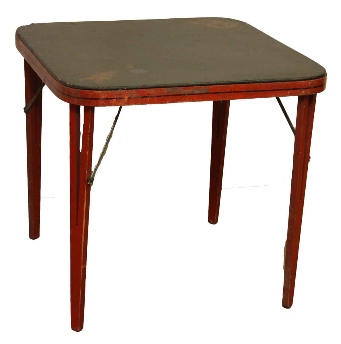 Vintage Card Table with Asian Design  Olde Good Things