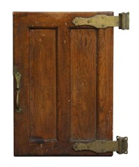 Old Wooden Refrigerator Door with Bronze Hardware | Olde ...