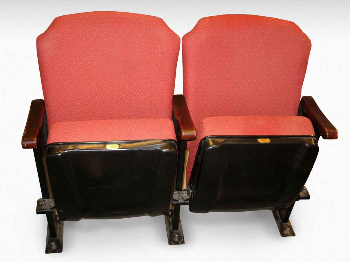 commercial seating chairs small futon chair red upholstered theater seats olde good things