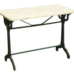 Antique French Bistro Table And Chairs Lace Chair Covers With Marble Top Olde Good Things