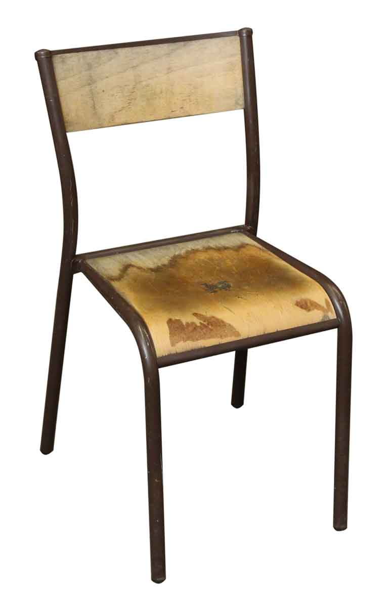 Vintage School Chairs Vintage Brown Metal Wooden School Chair