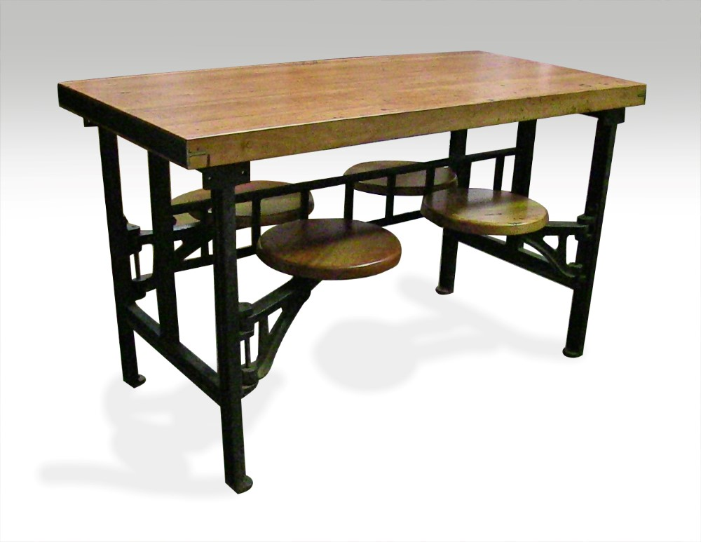 four seat swing seat industrial factory table