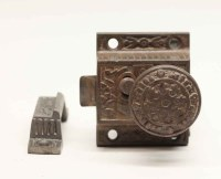 Antique Cast Iron Cabinet Latch Lock