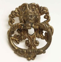 Antique Brass Lion Drawer Drop Pull