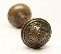 Antique Sargent Brass Door Knob Set | Olde Good Things