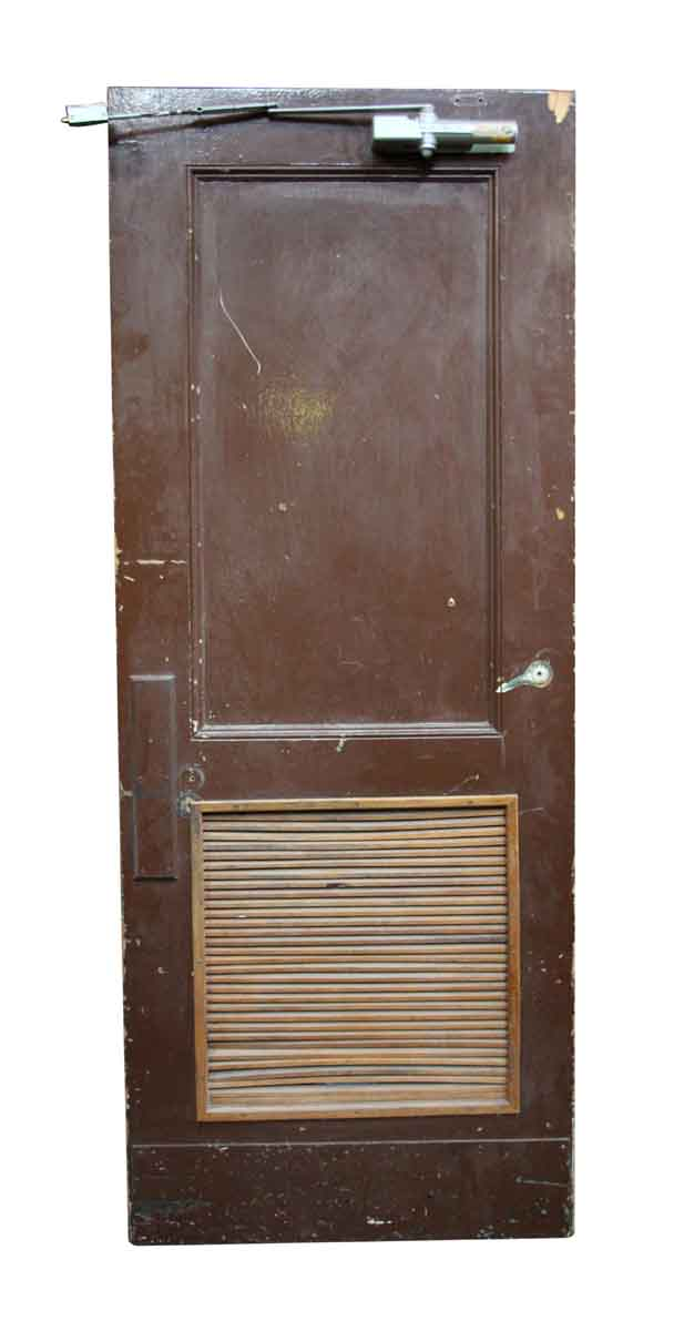 Old Bathroom Door with Louvered Panel  Olde Good Things