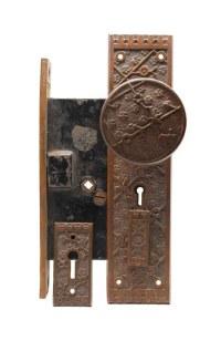 Antique Sargent Bronze Vernacular Complete Door Knob Set ...