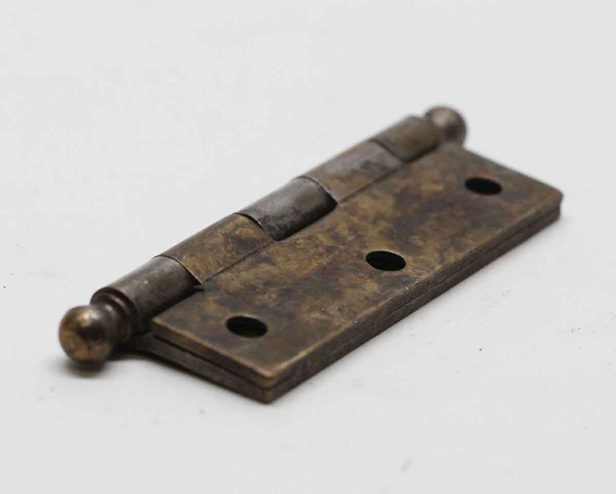 Steel Furniture Hinge with Brass Finish