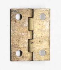 Small Antique Brass Furniture Hinge