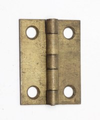 Small Antique Brass Furniture Hinge   Olde Good Things