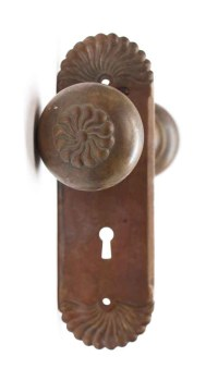 Antique Bronze Corbin Putnam Door Knob & Plate Set   Olde ...