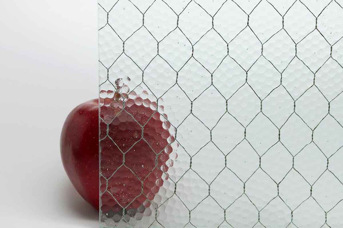 Antique Pebbled Vintage Chicken Wire Glass  Olde Good Things