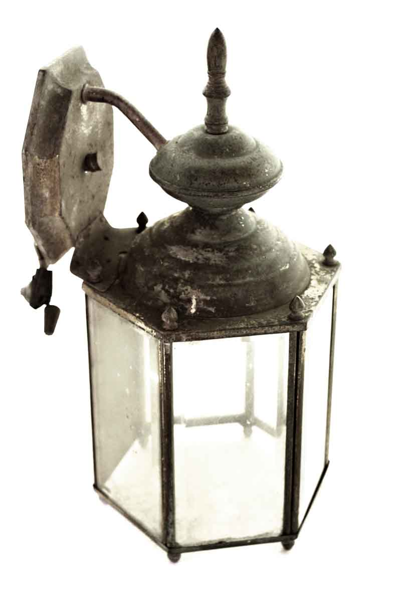 Brass Lantern Light with Five Clear Glass Panels  Olde
