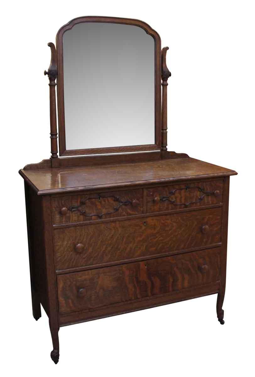 Quarter Sawn Oak Dresser with Mirror  Olde Good Things