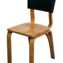 Bent Wood Chair Steel Base Thonet Bentwood With Green Vinyl Back Olde Good Things Seating