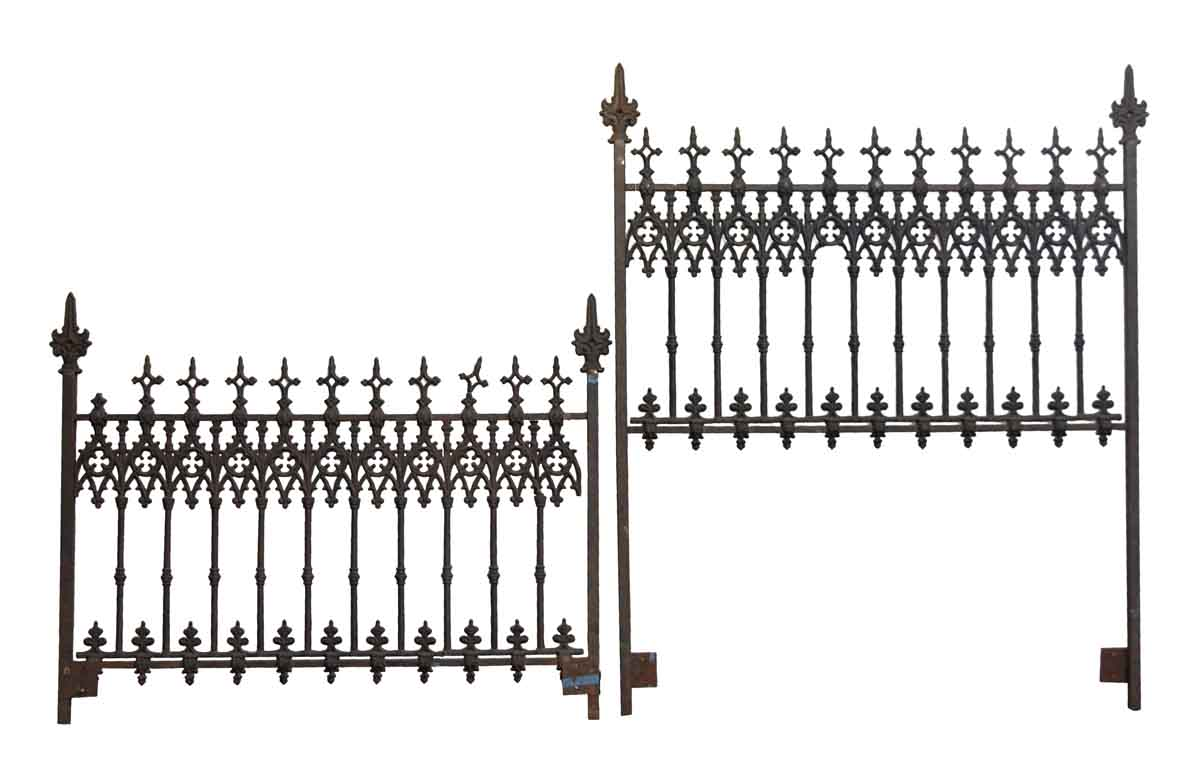 Cast Iron Gothic Queen Bed Frame Set