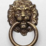 Traditional Reproduction Brass Lion Head Ring Drawer Pull Olde Good Things