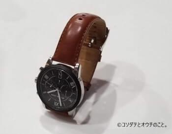 撮影ボックスなしで、そのまま撮った腕時計
