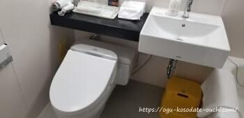 リーガロイヤルホテルUSJコラボルーム ユニットバスのトイレ
