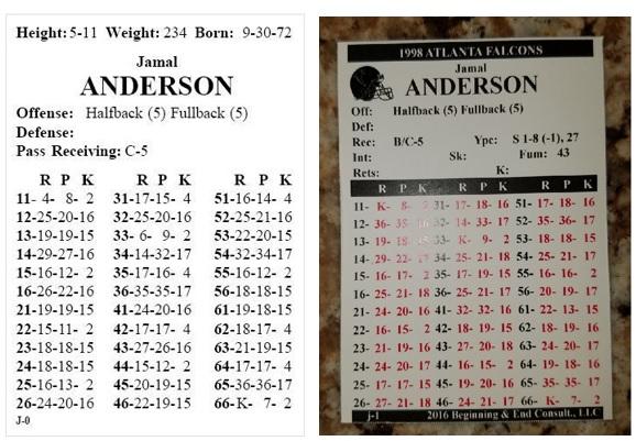 Jamal Anderson Card Comparison