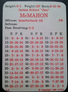 McMahon 85 Card (APBA)