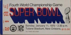 Super Bowl IV Ticket