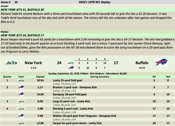 Game 26 NYJ at Buf