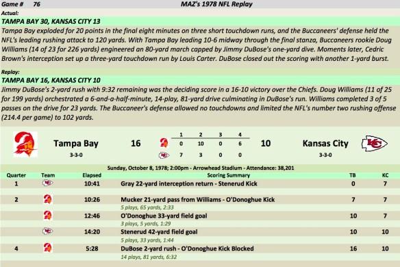 Game 76 TB at KC