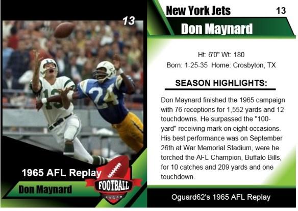 1965 Don Maynard Card