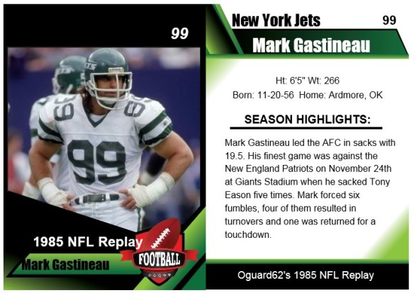 1985 Mark Gastineau Card