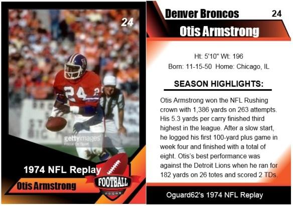 1974 - otis armstrong card