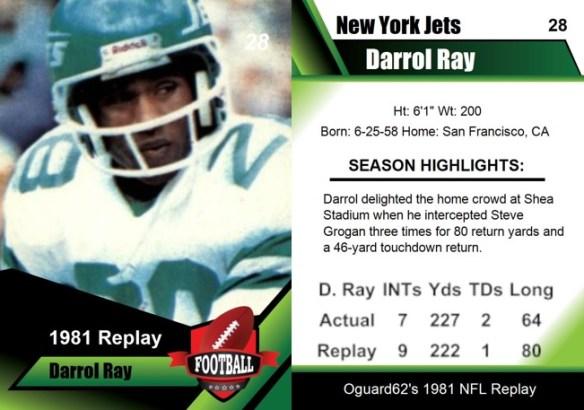1981 - Darrol Ray Card