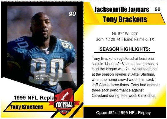 1999 - Tony Brackens Card