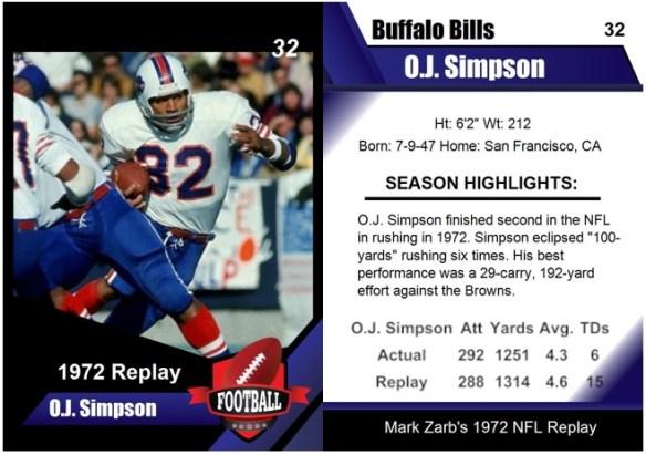 1972 O.J. Simpson Card