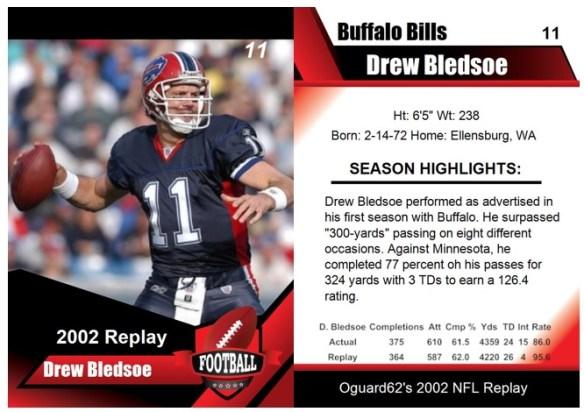 2002 - Drew Bledsoe Card