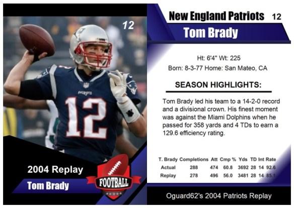 2004 - Tom Brady Card