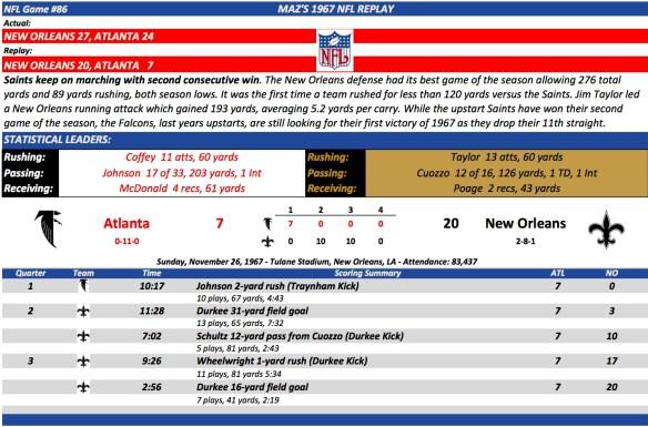 NFL Game #86 Atl at NO