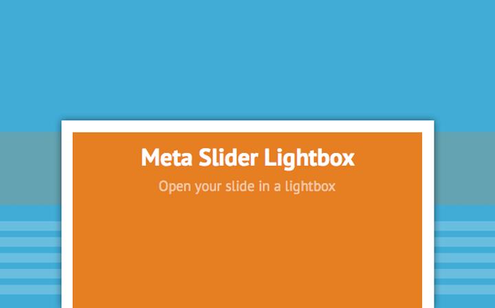 En İyi WordPress Eklentileri – Meta Slider Lightbox