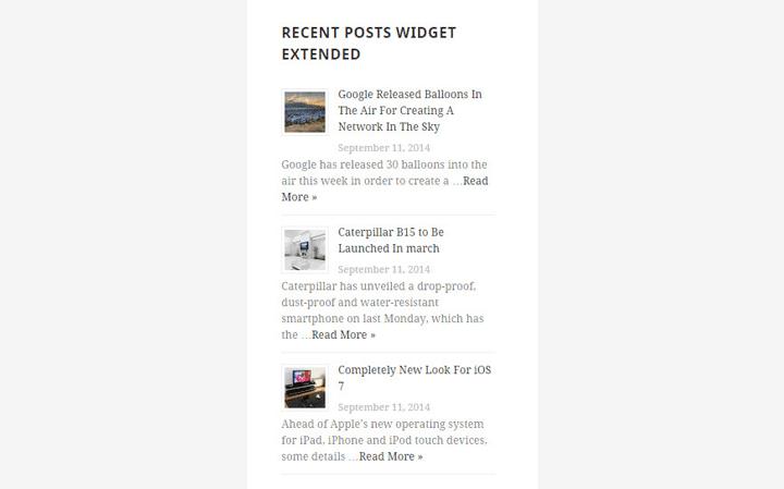 En İyi WordPress Eklentileri – Recent Posts Widget Extended