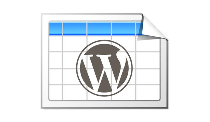 En İyi WordPress Eklentileri – TablePress