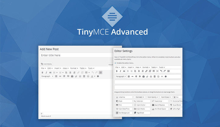 En İyi WordPress Eklentileri – TinyMCE Advanced
