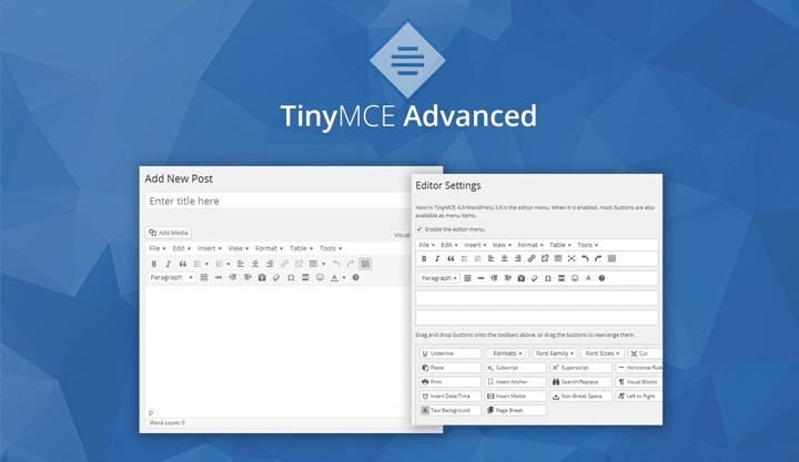 En İyi WordPress Eklentileri – TinyMCE Advanced