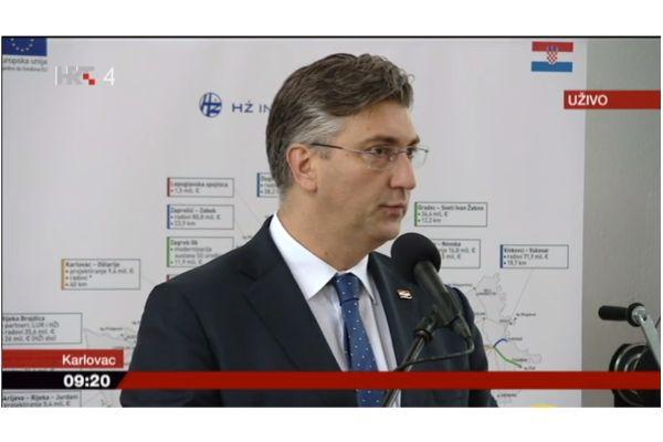 Ogulin.eu Ugovor o izgradnji drugog kolosijeka na dionici Hrvatski Leskovac - Karlovac