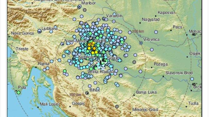 Ogulin.eu Prilično jak potres s epicentrom kod Gline, magnituda 3.8