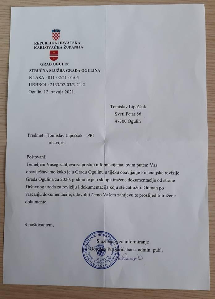 Ogulin.eu Lipošćak: Zašto se skrivaju ugovori? Skriva li Domitrović nešto?